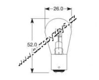 Žárovka 6V 15-15W BAX15d ELTA(5237)