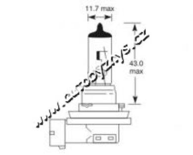 Žárovka 12V H11 55W PGJ 19-2 ELTA(2753)