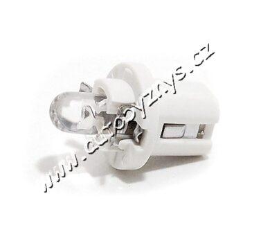 COMPASS Žárovka 12V B8,5 1LED bílá - 2ks(33761)