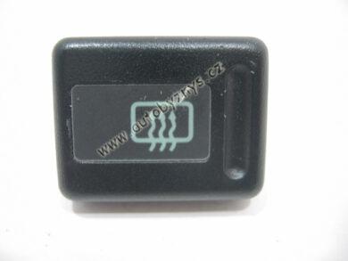 Tlačítko spínače vyhř. zad. skla. FAVORIT černé ; 115939713(2151)