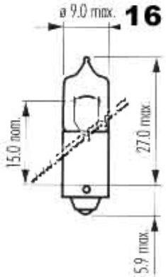 Žárovka 12V 20W halogen Ba9s oranžová(10753)