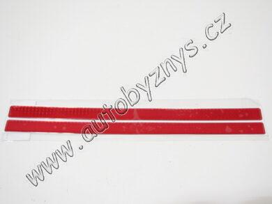 Odrazka reflexní obdélníková 45cm (sada 2ks)červená(11315)