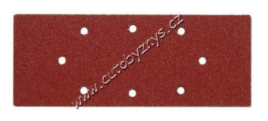 Brusné papíry do vibrační brusky 240x93mm s otvory zrnitost P100 - 5 ks(TO-08540)