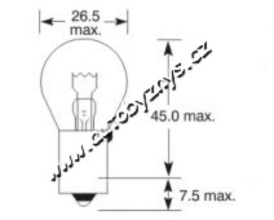 Žárovka 6V 21W Ba15s ELTA(2839)