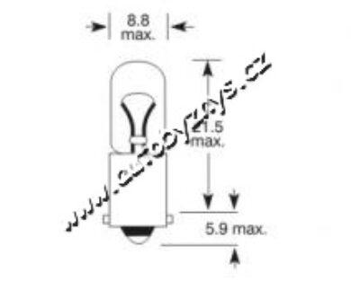 Žárovka 6V 4W Ba9s ELTA(2845)
