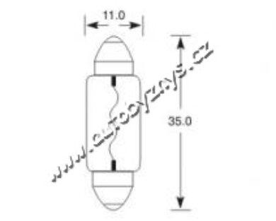 Žárovka 24V 5W SV8,5 11x35 ELTA(1210)