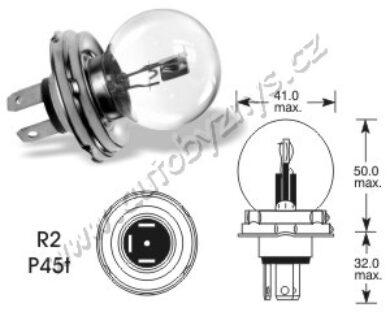 24V 55-50W P45t-41 asymetrická ELTA(3004)