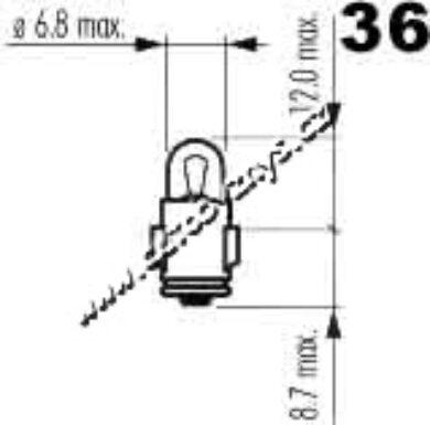 Žárovka 6V 1,2W Ba7s(3116)