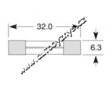 POJISTKA SKLENĚNÁ 10A 6,3x32(3158)
