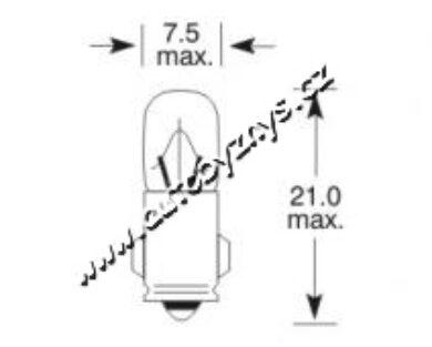 Žárovka 24V 3W Ba7s ELTA(3217)