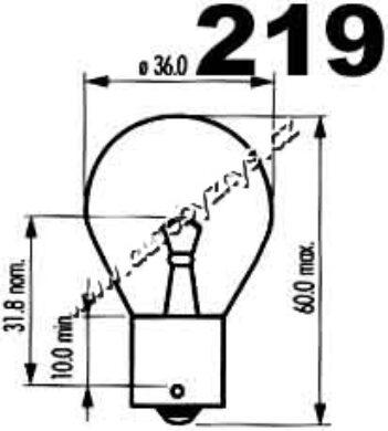 Žárovka 24V 35W Ba15s NARVA(3220)