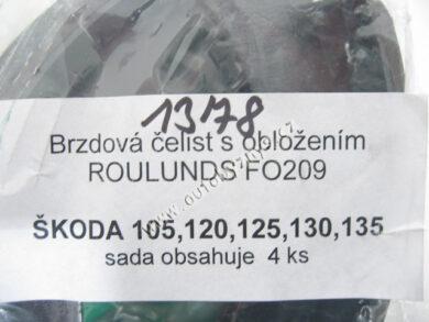 Čelisti brzdové ŠKODA 105/120 FOMAR-sada CZ 4ks 113330141(1378)