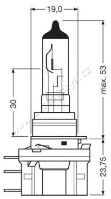 12V H15 55-15W  PGJ23T-1 OSRAM(14721)