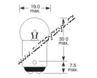 Žárovka 24V 5W Ba15d ELTA(3361)