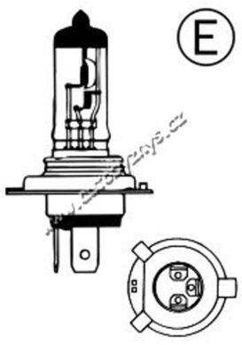 Žárovka 12V H4 60/55W P43t AUTOLAMP,COMPASS(3371)