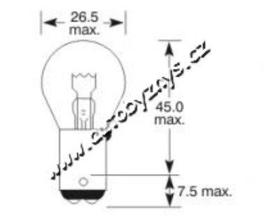 Žárovka 24V 21W Ba15d ELTA(3372)