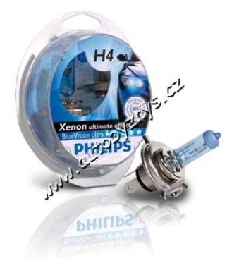 Žárovka 12V H4 Philips Blue Vision -Sada 2ks(3373)