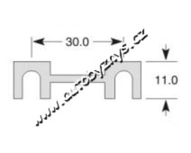 Pojistka plíšková 11x30mm 100A(3434)