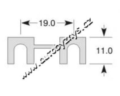 Pojistka plíšková 11x19mm 30A(3435)