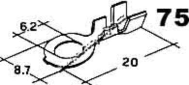 Oko kabelové prstencové 6,2x0,8-4(3453)
