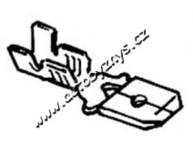 Zástrčka plochá 6,3x0,5-1(3569)