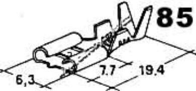 Objímka plochá 6,3x1-2,5(3588)