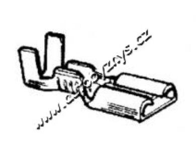 Objímka plochá 4,8x0,3-1(2)