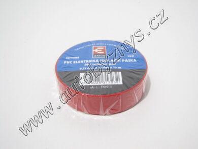 Izolační páska PVC 0,13mm 15x10m červená(3632)