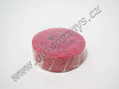 Izolační páska PVC 0,13mm 19x10m červená(3634)