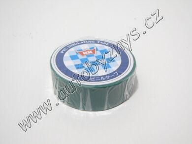 Izolační páska PVC 0,13mm 19x10m zelená(3638)