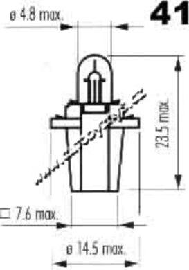 NARVA 12V 1,2W B8,3d /BAX 10S/(3739)