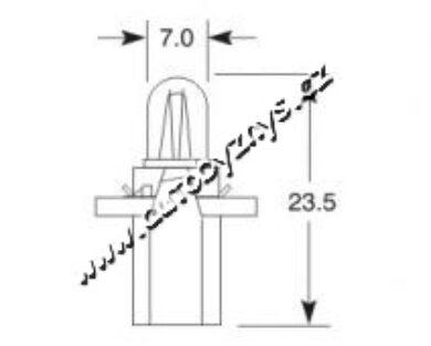 Žárovka 24V 1,2W B 8,3d ELTA(3740)