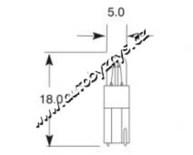 Žárovka 24V 1,2W Kw 2x4,6d ELTA(354)