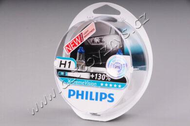 12V H1 55W P14,5s X-treme VISION +130% PHILIPS sada 2ks(30004)