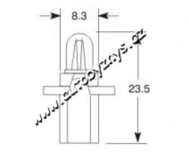 Žárovka 24V 1,2W B 8,7d ELTA(3875)