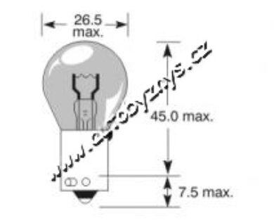 Žárovka 12V 21W BaU15s oranžová ELTA(3312)