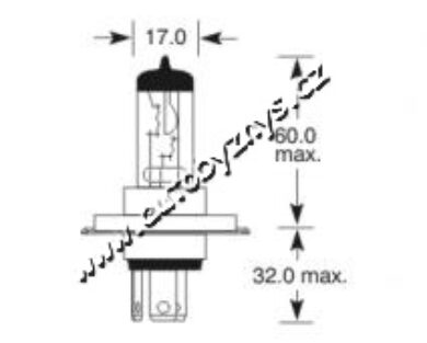Žárovka 12V H4 100-80W P43t-38 ELTA(1106)