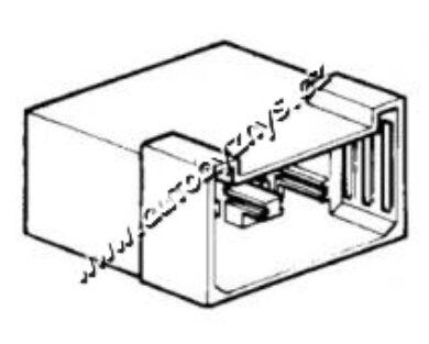 Obal zástrčky s jazýčkem 6,3mm-6 pólů(184)