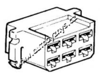 Obal objímky s jazýčkem 6,3mm-6pólů(3890)