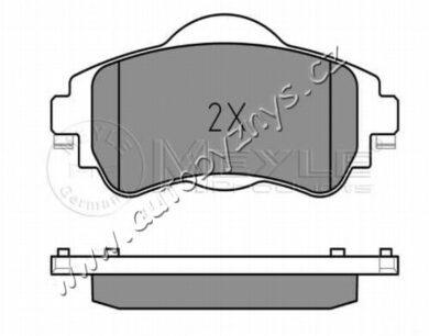 Brzdové destičky přední Citroen C4 2009- (129x61mm) MEYLE(025 252 2018)