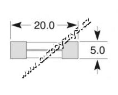 Pojistka skleněná 4A 5x20(3908)