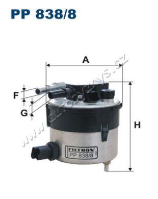Filtr palivový Ford,Mazda,Volvo FILTRON(PP838/8)