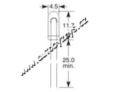 Žárovka 12V 80mA T1 1/4 4,5x12 ELTA(3944)