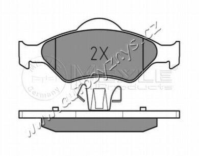 Brzdové destičky přední Ford,Mazda (151,5/150,1x51,7/54) MEYLE(025 232 0018)