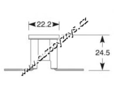Pojistka kostka zahnutá Japonské vozy 50A(4097)