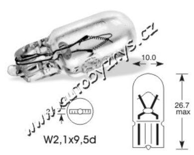 Bulb 12V 2W capless W2,1x9,5d - ELTA(756)