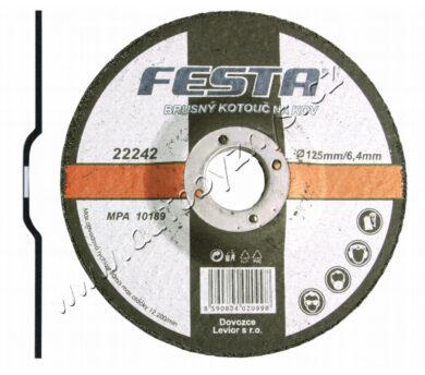 Kotouč brusný kov 115x6.4x22.2 FESTA(22240)