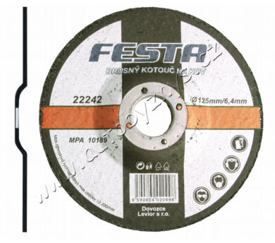 Kotouč brusný kov 180x6.4x22.2 FESTA(22246)