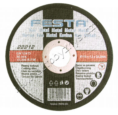 Kotouč řezný kov 115x1.6x22.2 FESTA(22251)
