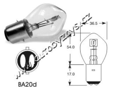 6V 25-25W Ba20d ELTA(80822)